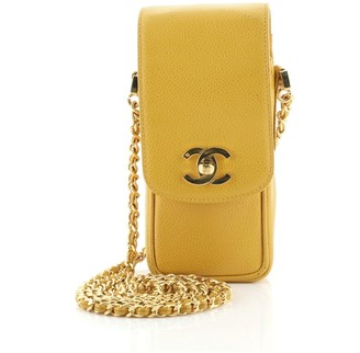 Chanel CC Phone Holder Crossbody Bag Caviar