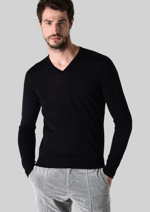 Giorgio Armani Pure Wool V-Neck Pullover
