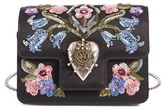 Alexander McQueen Mini Heart Embellished Calfskin Crossbody Bag - Black