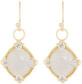 Jude Frances Lisse 18K Moonstone & Diamond Dangle & Drop Earrings