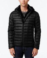 Calvin Klein Men's Packable Hooded with Inner Zip-Up Collar Puffer Coat