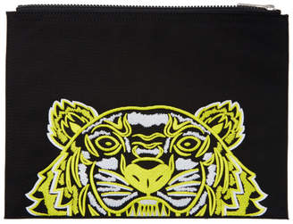 Kenzo Black Limited Edition High Summer Tiger A4 Pouch
