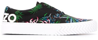 Kenzo Floral Print Sneakers