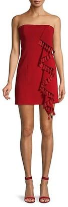 Cinq à Sept Nat Tassel-Trimmed Strapless Dress