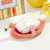 Twos Company Flamingo Soap Dish with Tropical Fizz Scented Bar Soap