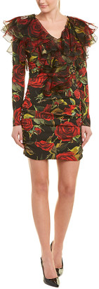Dolce & Gabbana Ruched Silk-Blend Mini Dress