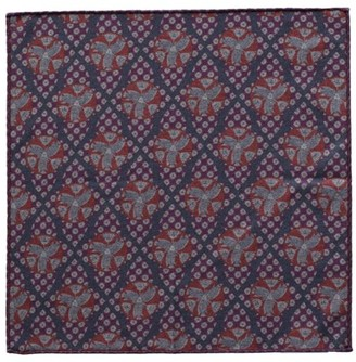 Eton Geometric Wool Pocket Square