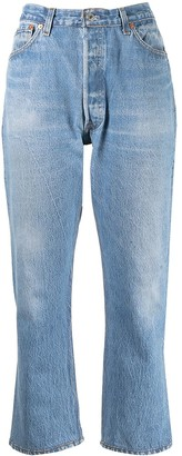 RE/DONE Stonewashed High-Waisted Jeans
