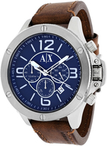 Armani Exchange Classic Collection AX1505 Men's Leather Strap Watch with Chronograph