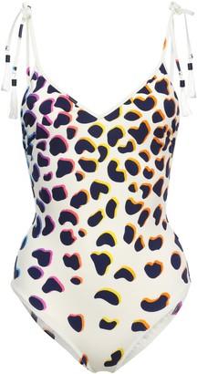 Emma Pake Open-back Tassel-trimmed Leopard-print Swimsuit