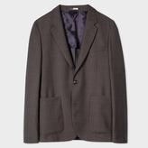 Paul Smith Men's Mid-Fit Two-Tone Grey Windowpane-Check Wool Blazer