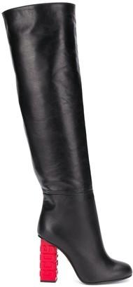 GCDS Riders knee-high boots