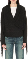 Wildfox Couture Marishka fringe-detail knitted cardigan