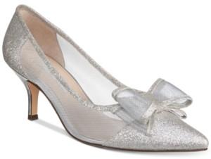 Nina Bianca Mesh Bow Kitten Heel Pumps Women's Shoes