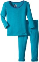 Kickee Pants Pajama Set (Baby) - Bay With Twilight - 6-12 Months