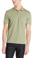 Van Heusen Men's Short-Sleeve Feeder-Stripe Polo Shirt