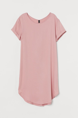 H&M Short T-shirt Dress - Pink