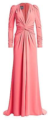 Monique Lhuillier Women's Plunging Twist-Front Gown