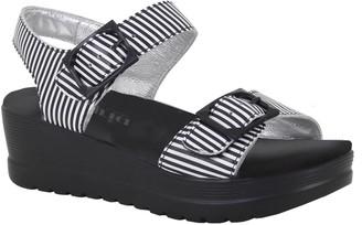 Alegria Leather Wedge Sandals - Morgyn