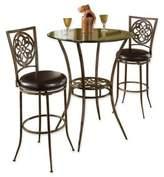 Hillsdale Marsala 3-Piece Bar Height Bistro Dining Set in Grey
