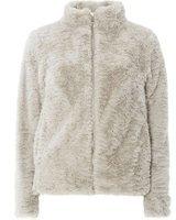 Dorothy Perkins Womens Light Grey Faux Fur Coat- Silver