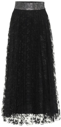 Christopher Kane Embellished lace midi skirt