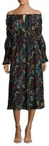 T Tahari Marisole Printed Midi Dress