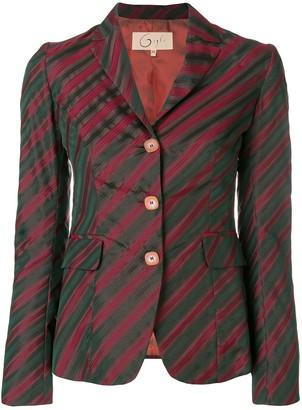 Romeo Gigli Pre Owned Diagonal Striped Blazer