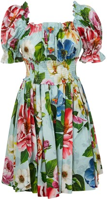 Dolce & Gabbana Fitted Waist Floral Print Dress