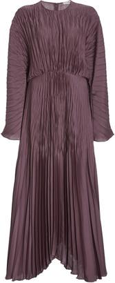Vince Pleated Satin Dress
