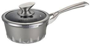 """Amercook Die Cast Aluminum Round Sause Pan Lid with Induction Bottom 6.3"""""""