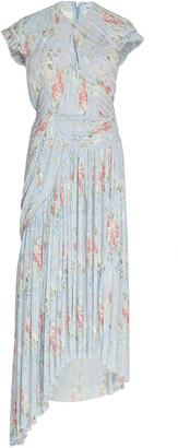 Preen by Thornton Bregazzi Julia Floral-Print Plisse Midi-Dress
