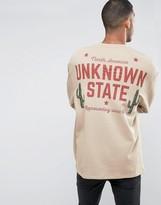 Asos Oversized Longline Sweatshirt With Back Print