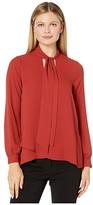 Karen Kane Tie Neck Crossover Top (Rust) Women's Clothing