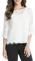 Karen Kane Flare-Sleeve Lace Top