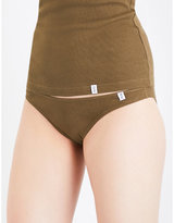 Les Girls Les Boys Logo-waistband Stretch-cotton Briefs