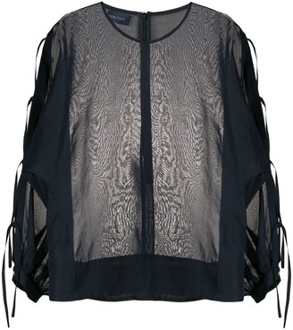 Eudon Choi Side Ties Sheer Blouse