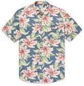 Faherty Floral-Print Linen-Blend Shirt