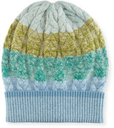 Missoni Striped Cable-Knit Beanie Hat