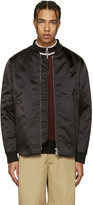 Acne Studios Black Mylon Bomber Jacket