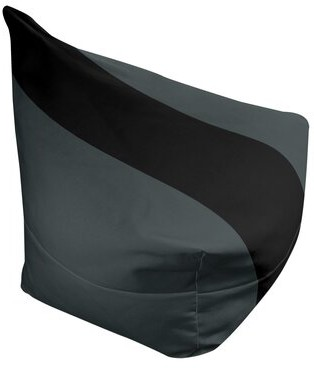 "East Urban Home Bean Bag Cover Fabric: Steel Gray/Black, Size: 30"" H x 27"" W x 2"" D"