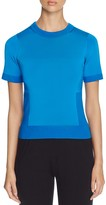 DKNY Tonal Color Block Short Sleeve Sweater