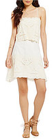Chelsea & Violet Embroidered Popover Dress