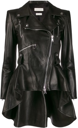 Alexander McQueen Peplum Leather Jacket