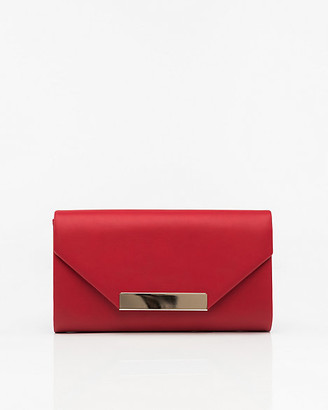 Le Château Faux Leather Flapover Clutch