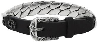 Gucci Black and Silver Small Garden Bracelet
