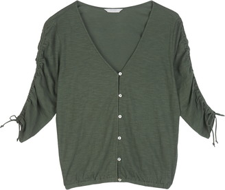 Lucky Brand Ruched Sleeve Top