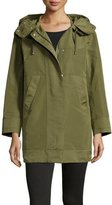 Moncler Pagel Hooded Anorak Jacket, Olive