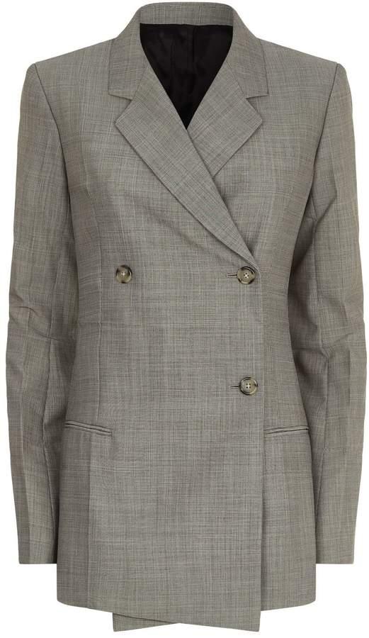 Helmut Lang Micro Check Wool Mohair Blazer