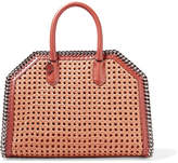 Stella McCartney The Falabella Box Wicker And Faux Leather Tote - Tan